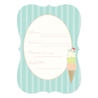 5x7 Ice Cream Social Invite