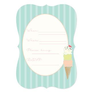 5x7 Ice Cream Social Invite