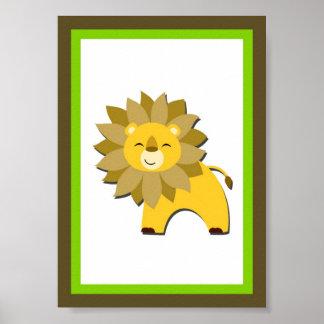 5X7 Lion Jungle Animal Wall Art Poster