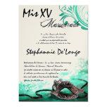 5x7 Masquerade Quinceanera Birthday Invitation 13 Cm X 18 Cm Invitation Card