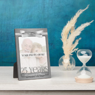 5x7 Silver 25th Wedding Anniversary Photo Frame