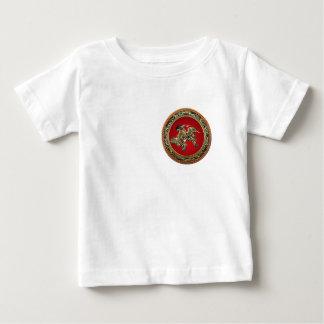 [600] Hokusai - Shoki Riding Shishi Lion Baby T-Shirt