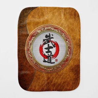 [600] Japanese Calligraphy - Bushido Baby Burp Cloth