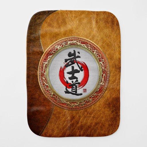 [600] Japanese Calligraphy - Bushido Burp Cloth