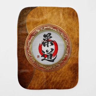 [600] Japanese Martial Arts Calligraphy: Judo Baby Burp Cloth