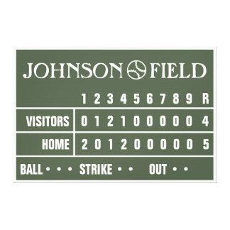 "60"" x 40"" Baseball Scoreboard Wrapped Canvas"