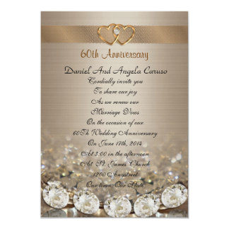 60th Anniversary vow renewal Invitation
