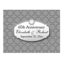 60th Anniversary Wedding Anniversary Diamond Z01 Postcard