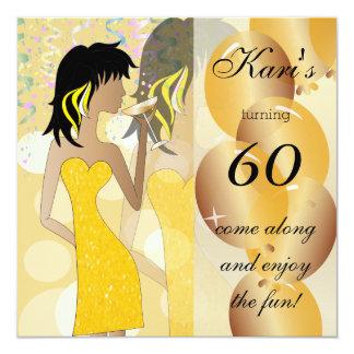 60th Birthday Bash Party Card