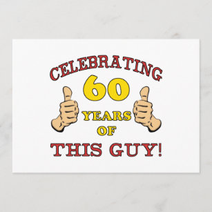 60th Birthday Gift For Him Card
