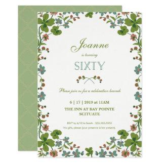 60th Birthday Invitation - Vintage Floral Sixtieth