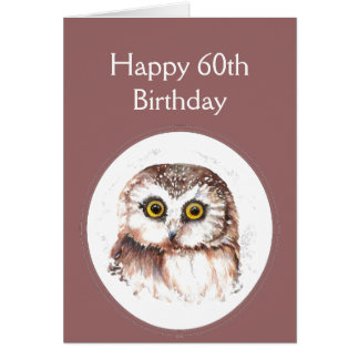 60th Birthday Who Loves You, Cute Owl Humour Card