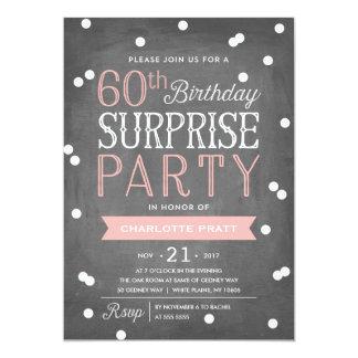 60th Confetti Surprise Party Invitation   Birthday
