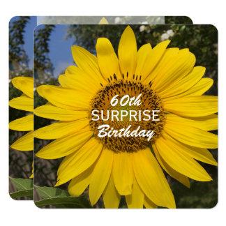 60th Surprise Birthday Party Sunflower Invitation
