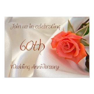 60th wedding anniverary party invitation