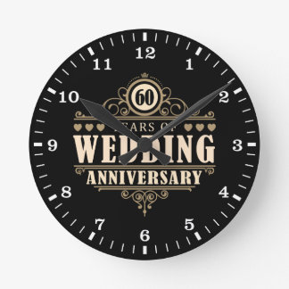 60th Wedding Anniversary Clocks