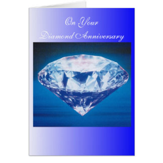 60th Wedding Anniversary Diamond Card