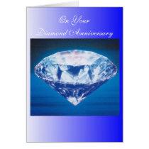 60th Wedding Anniversary Diamond Greeting Card