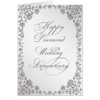 60th Wedding Anniversary Greeting Card
