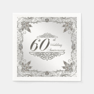 60th Wedding Anniversary Paper Napkin