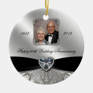 60th Wedding Anniversary Photo Ornament