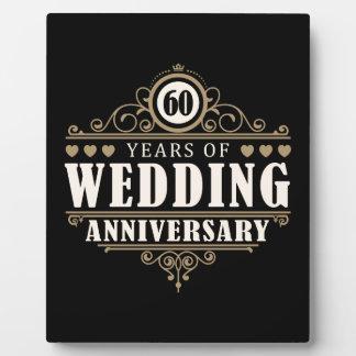 60th Wedding Anniversary Photo Plaque