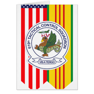 619th Tactical Control Squadron W/Flags Card