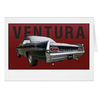 61 Pontiac Ventura Rear View note card. Note Card
