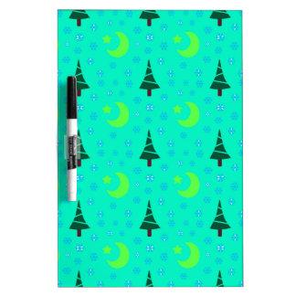 629 Cute Christmas tree and Moon pattern.jpg Dry Erase Board