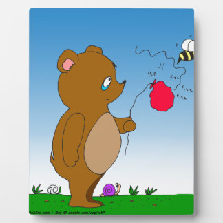 643 bee pops bears balloon cartoon plaque