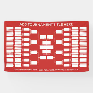 64 Team - Tournament Bracket - can change colour Banner