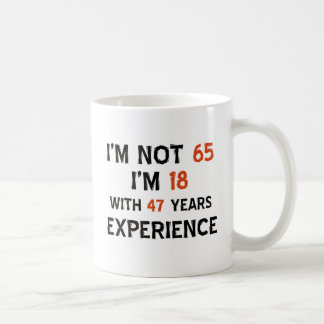65th birthday designs coffee mug
