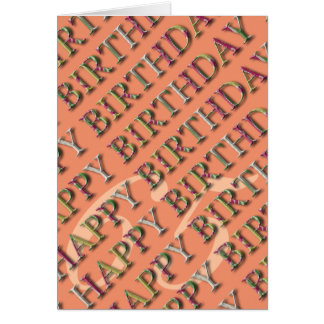 65th Birthday Greeting with letters in relief 3 Card
