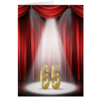 65th birthday in spotlight on stage card