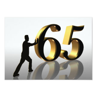 "65th Birthday party invitation ""Pushing 65"""