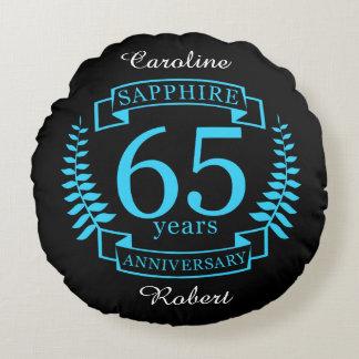 65th Wedding ANNIVERSARY SAPPHIRE Round Cushion