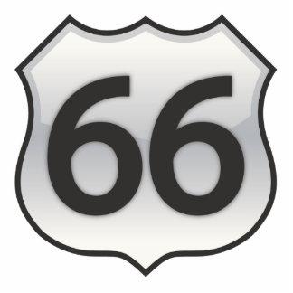 66 sign photo sculpture decoration