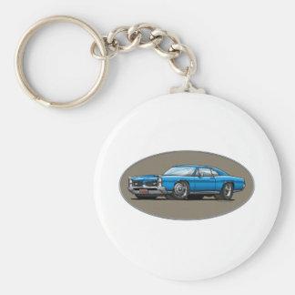 67 Pontiac GTO_blue Key Ring