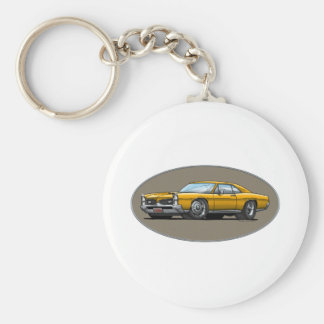 67 Pontiac GTO_gold Key Ring