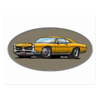 67 Pontiac GTO_gold Postcard
