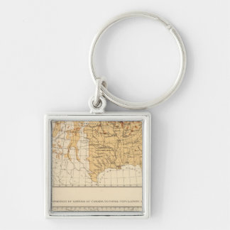 68 Natives Canada 1900 Silver-Colored Square Key Ring