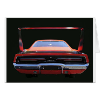 69 CHARGER REAREND GREETING CARD