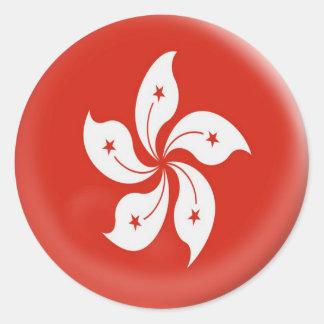 6 large stickers Hong Kong flag