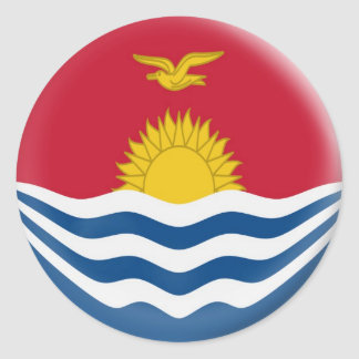 6 large stickers Kiribati flag