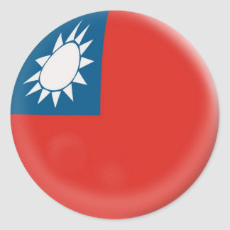 6 large stickers Taiwan Taiwanese flag