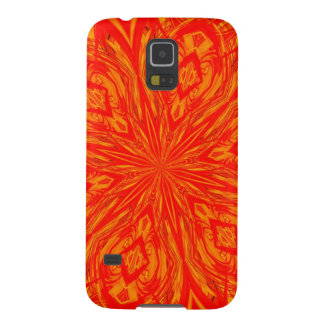 6 Petal Abstract Orange Crush Galaxy S5 Cases