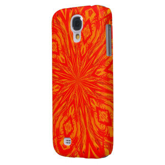 6 Petal Abstract Orange Crush Galaxy S4 Cover