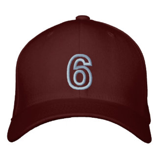 """""""6"""" Small Athletic Number Embroidered Hat"""