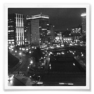 "6"" x 6"" Instagram Print: City at Night Photo Print"