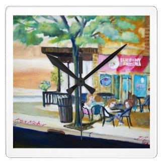 6th Ave in Kenosha Wisconsin. Square Wall Clock